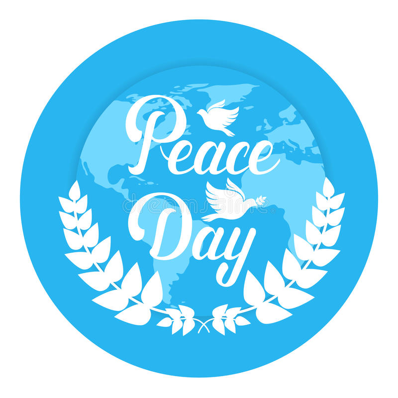世界和平天全球平假日的海报 皇族释放例证