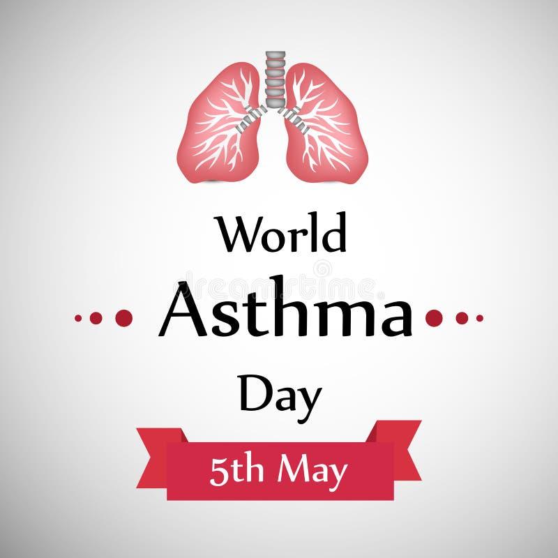 世界哮喘天背景 皇族释放例证