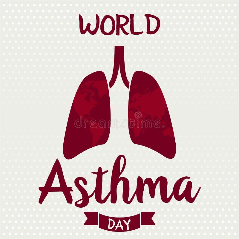世界哮喘天 向量例证