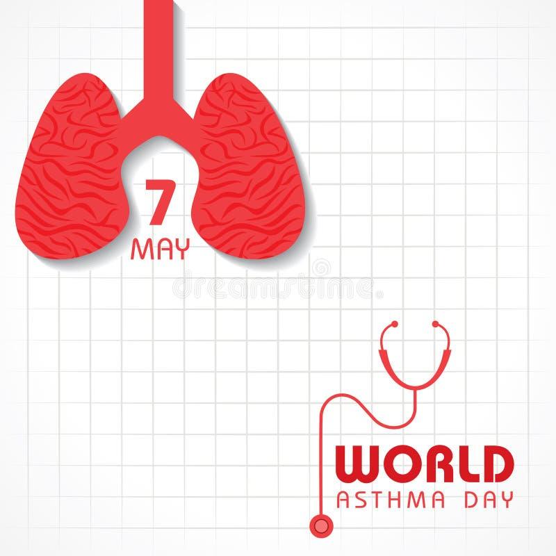世界哮喘天 库存例证
