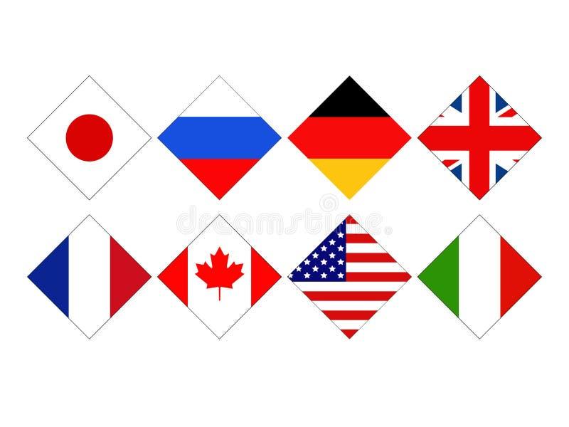 世界国旗 皇族释放例证
