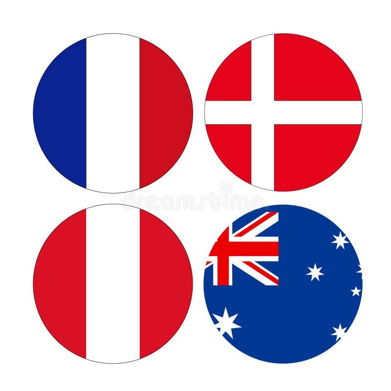 世界国旗 向量例证