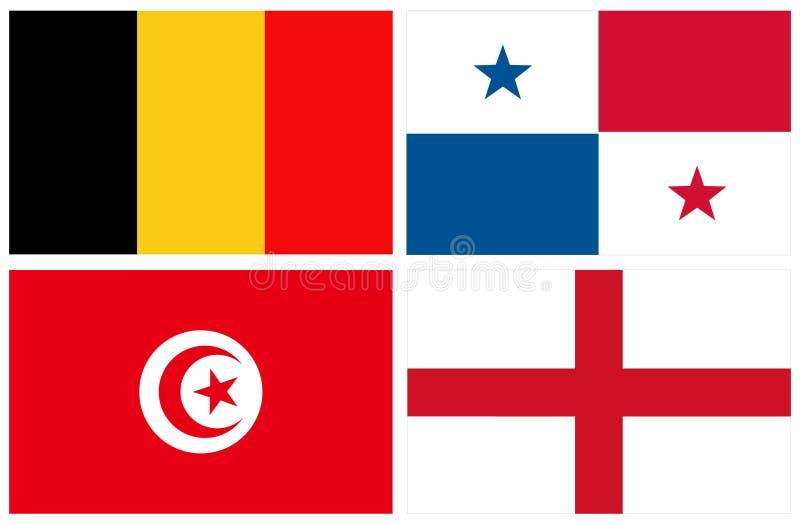 世界国旗 库存例证