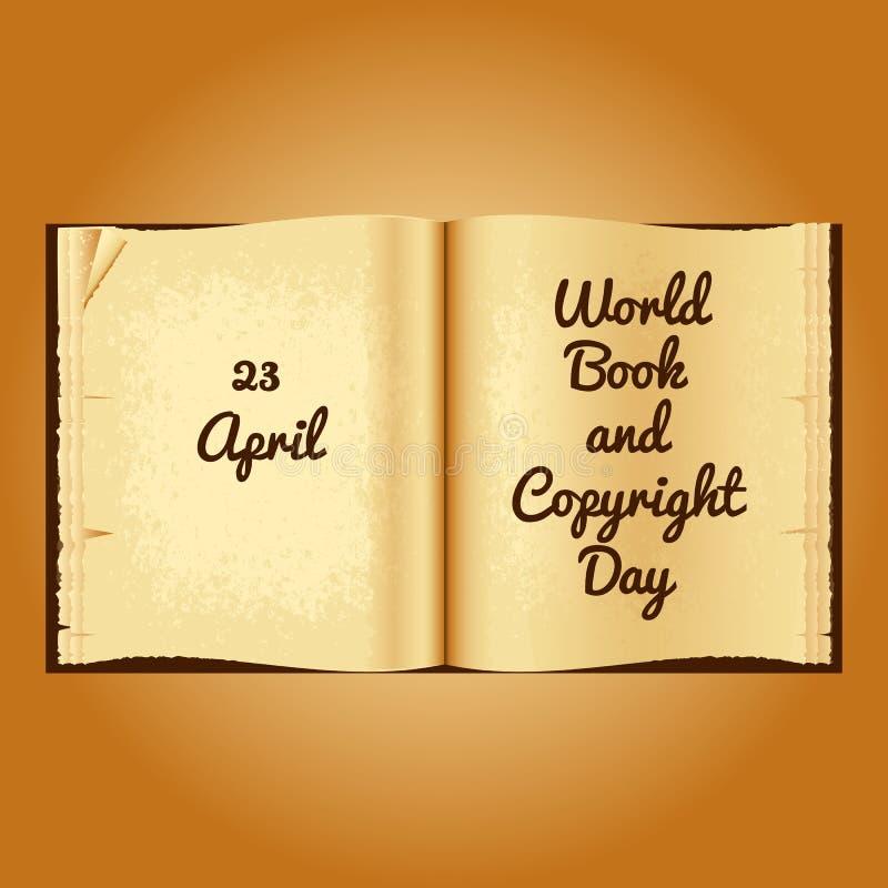 世界图书与版权日 库存例证