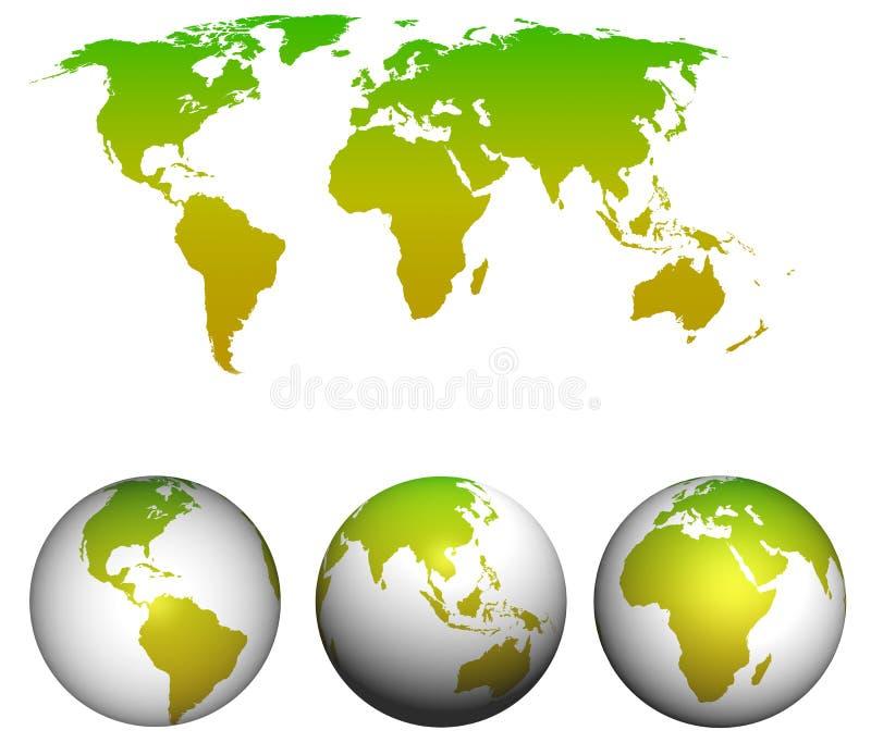 世界地图。 向量例证
