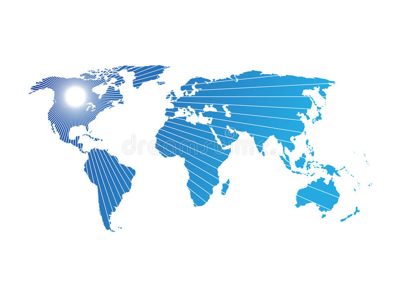 世界地图传染媒介摘要例证样式 库存例证