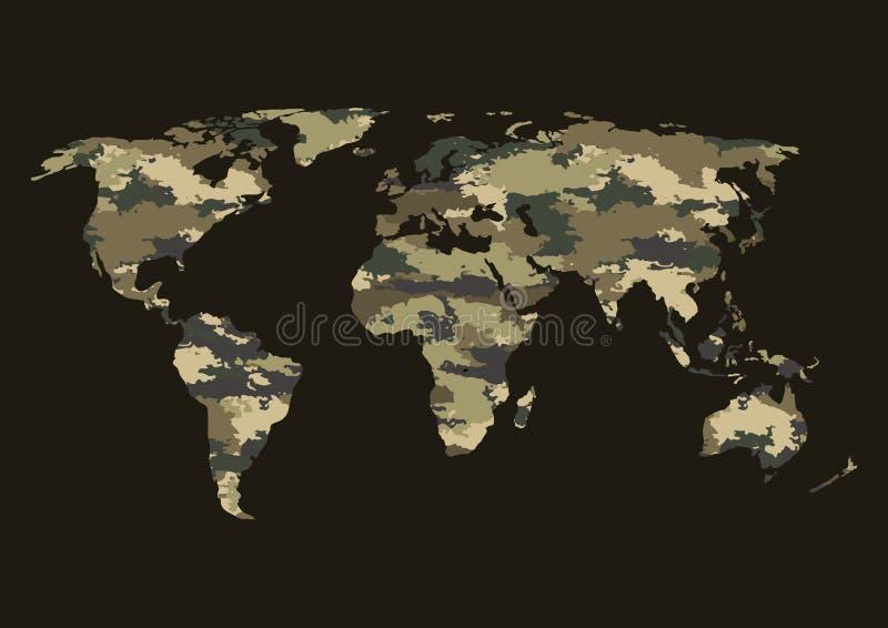 世界地图伪装 皇族释放例证