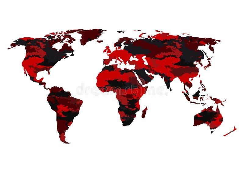世界地图伪装 库存例证