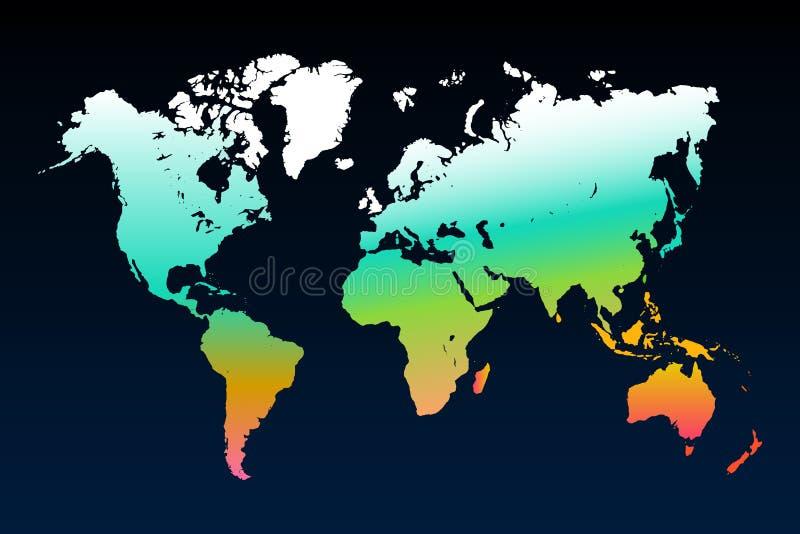 世界地图模板 库存例证