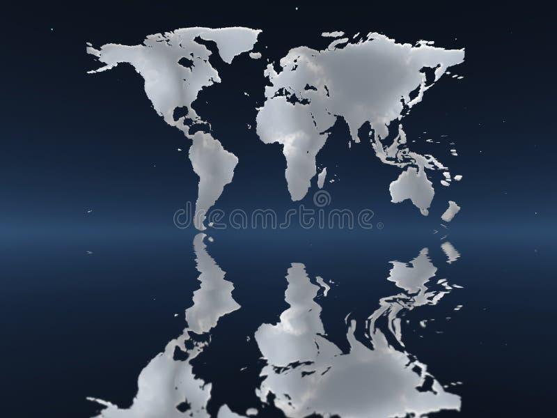 世界地图由云彩制成 皇族释放例证