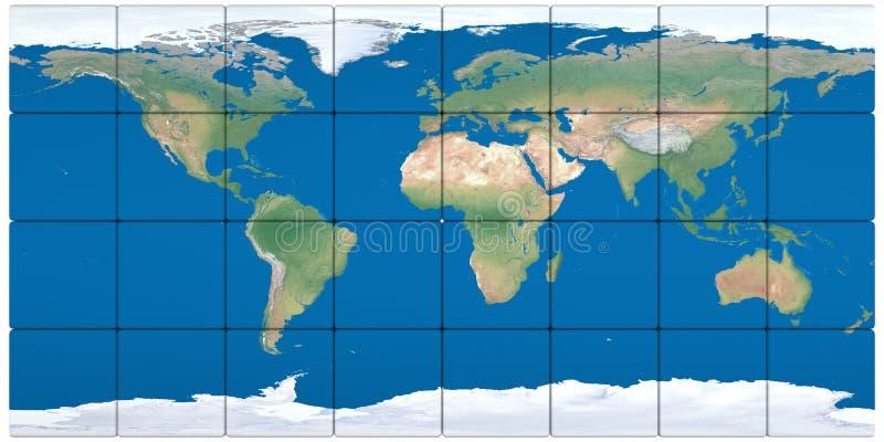 世界地图由块做成 皇族释放例证