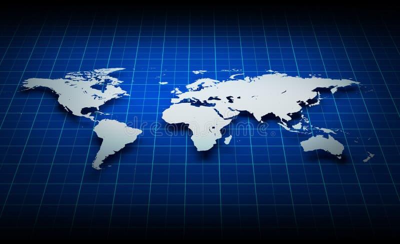 世界地图的图象 库存例证