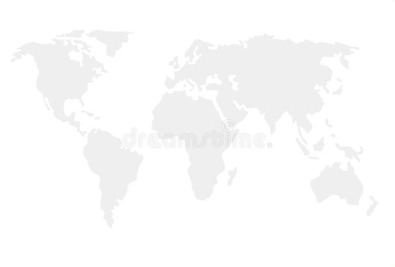 世界地图被说明的模板 向量例证