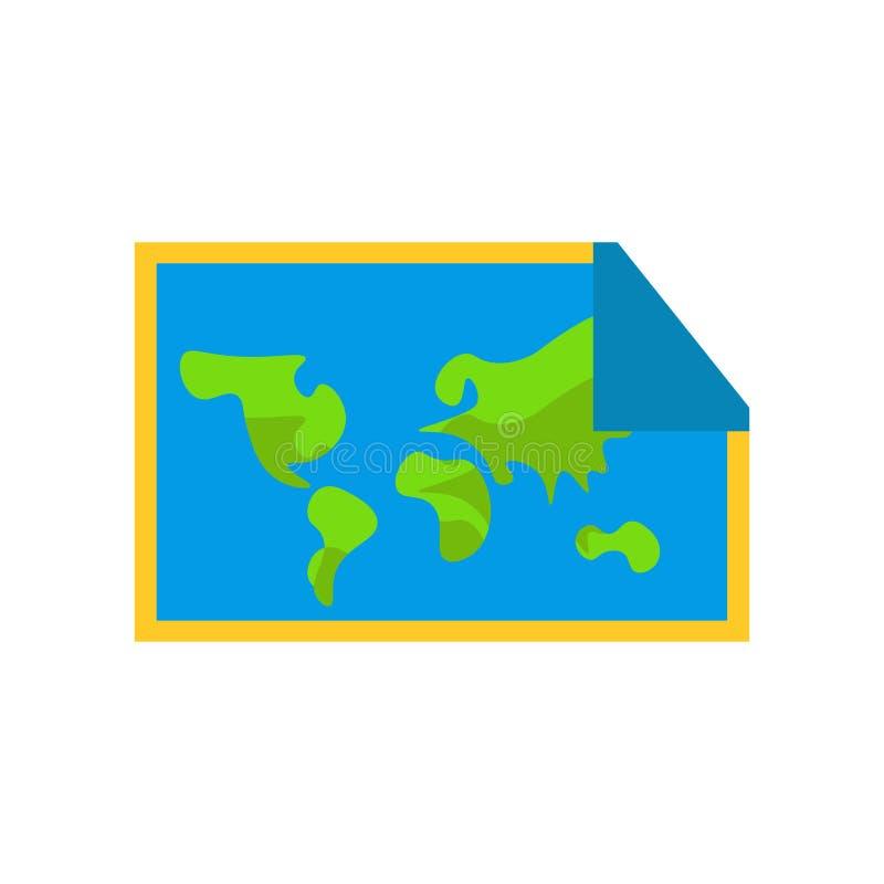 世界地图象在白色backgrou和标志隔绝的传染媒介标志 库存例证