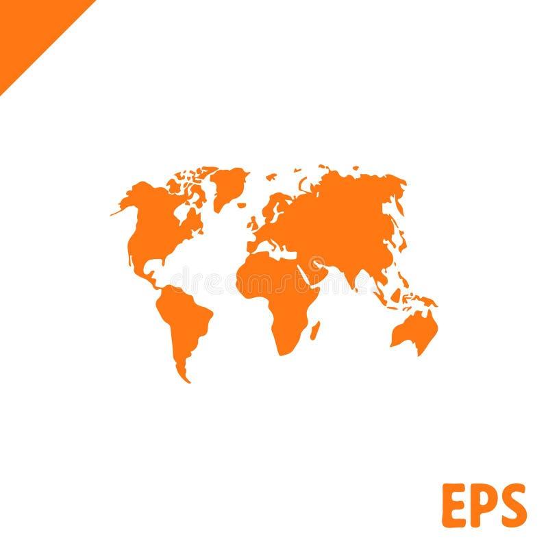 世界地图象股票传染媒介例证平的设计 向量例证