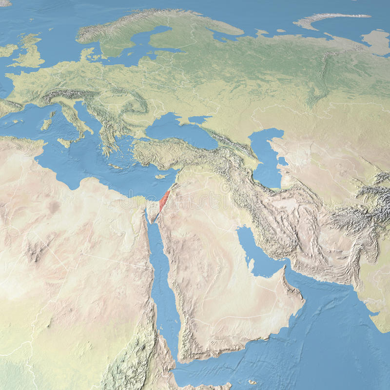 世界地图,以色列 皇族释放例证