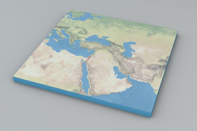 世界地图,以色列 向量例证