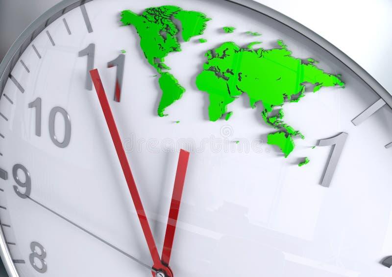世界地图读秒 免版税库存图片