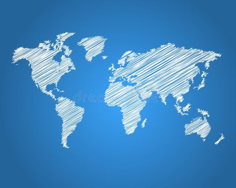 世界地图 向量例证