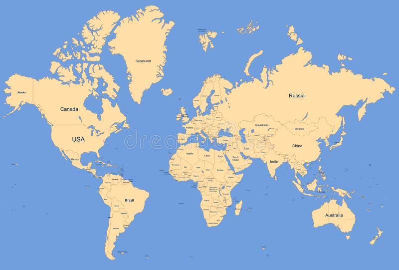 世界地图 库存例证