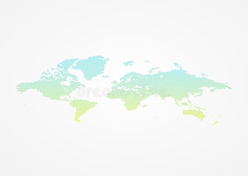 世界地图infographic标志 在A4大小的传染媒介布局 被加点的国际全球性例证标志 事务的设计元素 库存例证