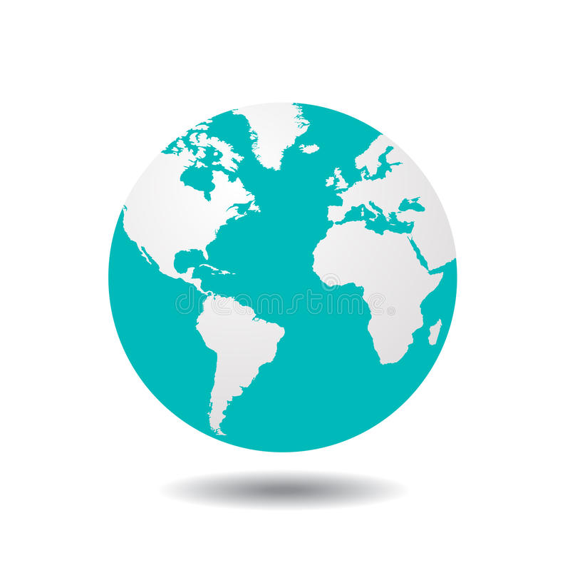 世界地球传染媒介 皇族释放例证