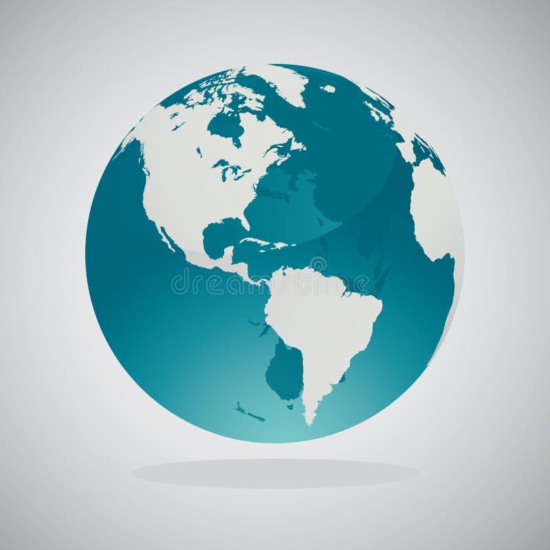 世界地球地图-传染媒介设计 向量例证