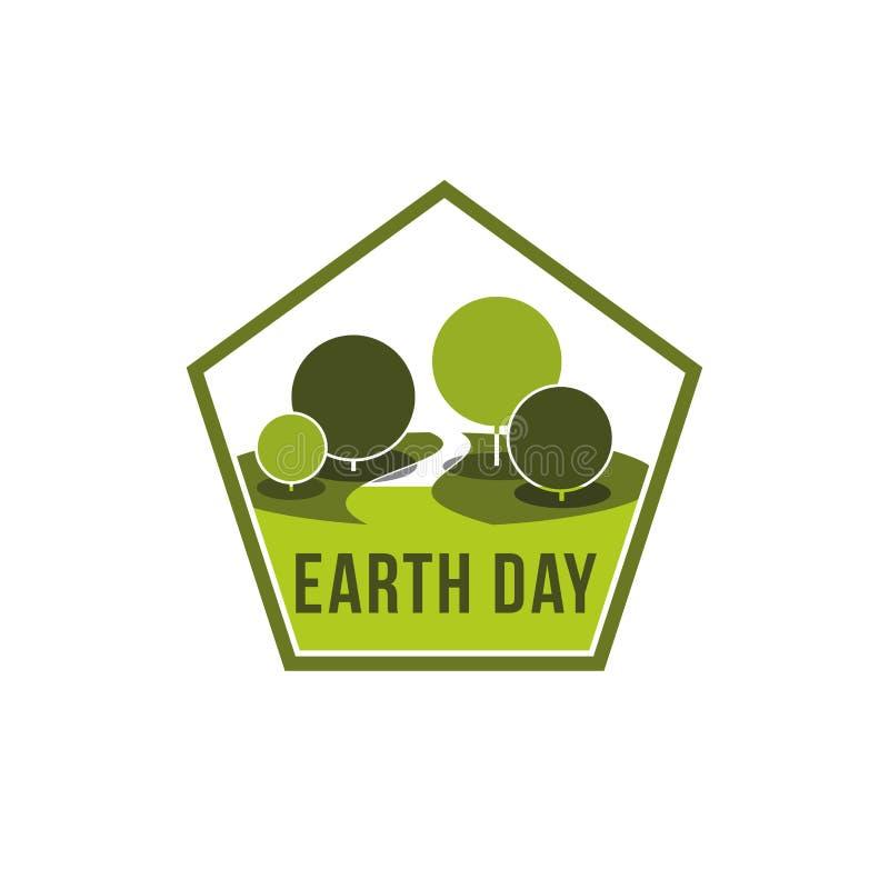 世界地球日世界生态传染媒介绿色自然象 皇族释放例证