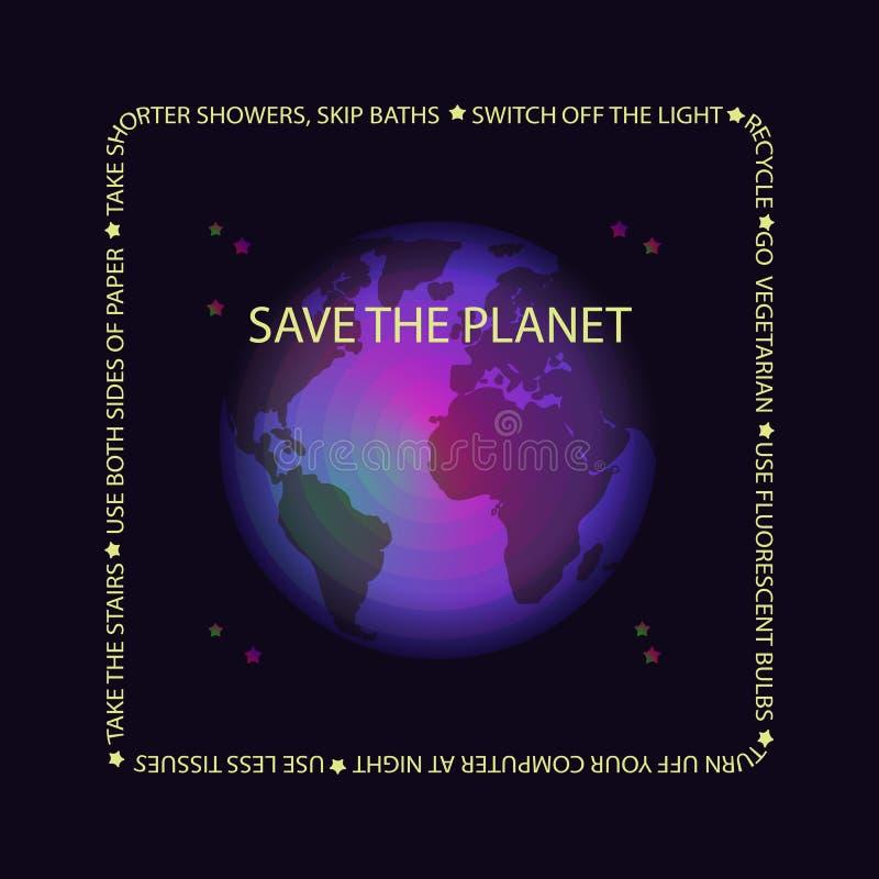 世界地球日概念 也corel凹道例证向量 皇族释放例证