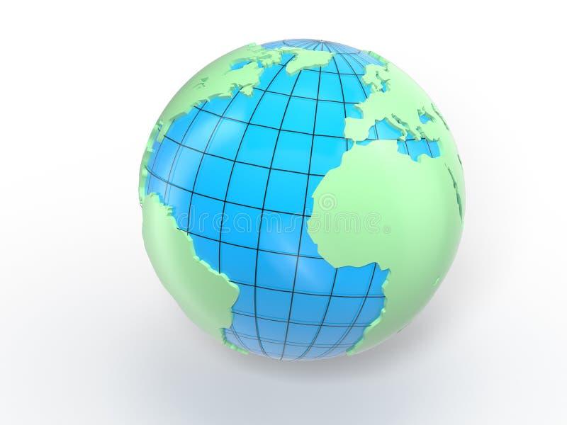 世界地球映射 皇族释放例证