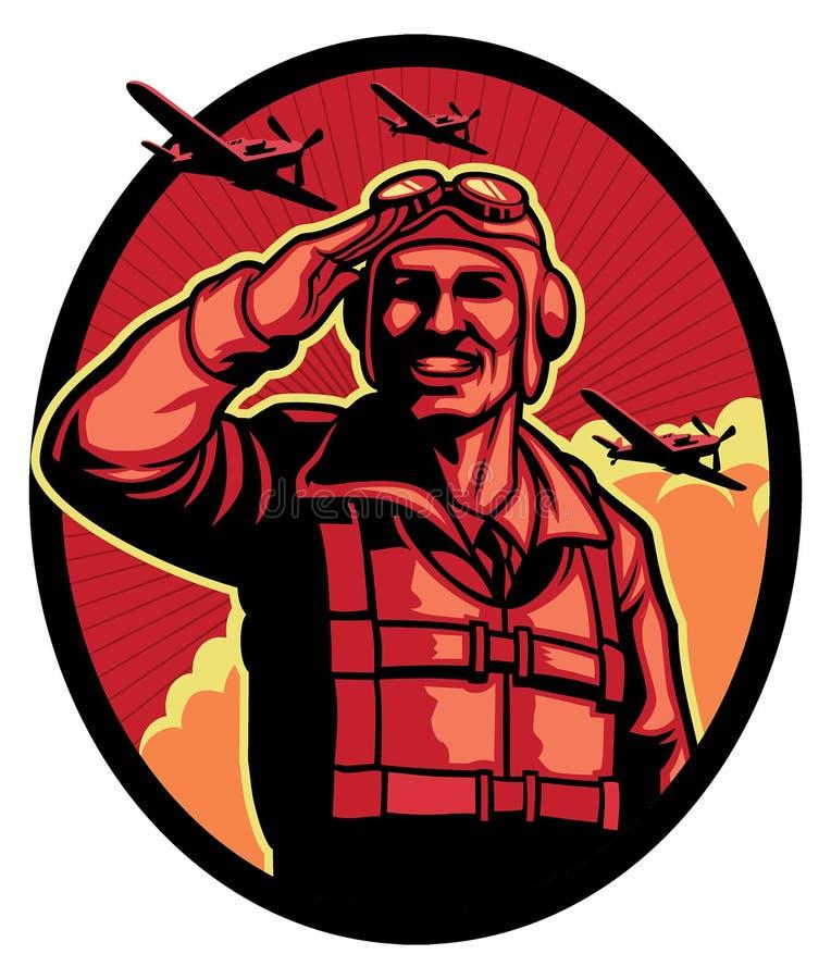 世界大战飞行员 皇族释放例证