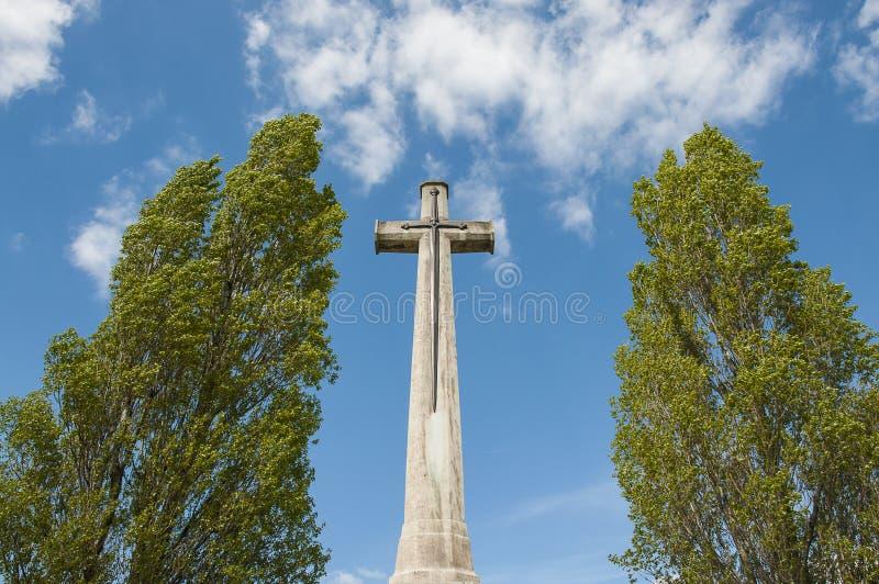 世界大战1坟墓在伊珀尔 库存照片