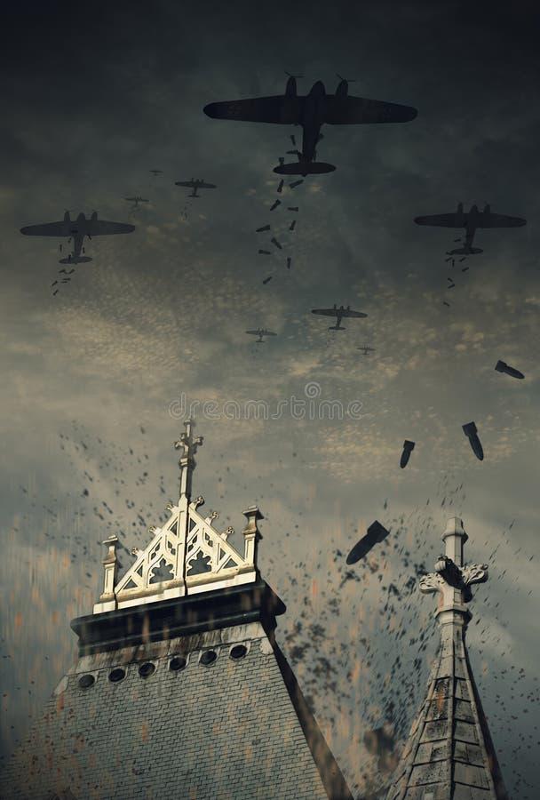 世界大战2德国轰炸机 库存例证