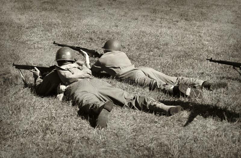 世界大战2战士 免版税库存照片