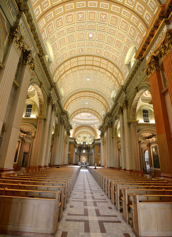 世界大教堂的玛丽女王/王后在蒙特利尔加拿大 免版税图库摄影