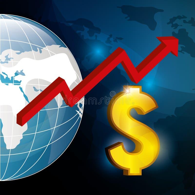 世界市场和证券交易所 皇族释放例证