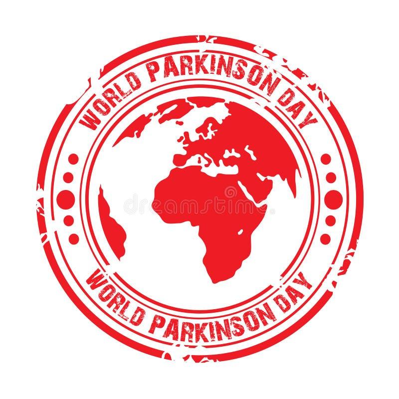 世界帕金森天 库存例证