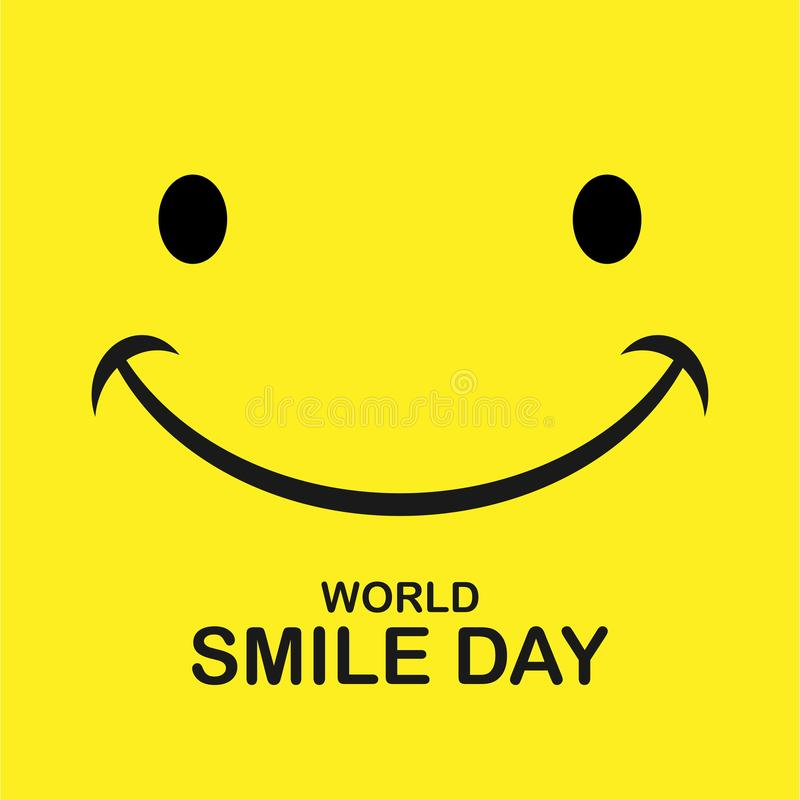 世界微笑天 微笑象传染媒介 幸福标志,微笑面孔表示,传染媒介例证 库存例证