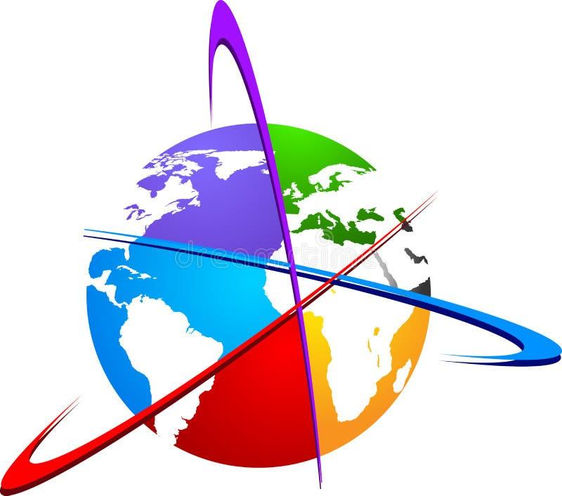 世界徽标 向量例证
