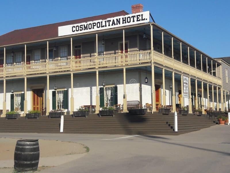 世界性旅馆在老镇圣地亚哥 库存照片