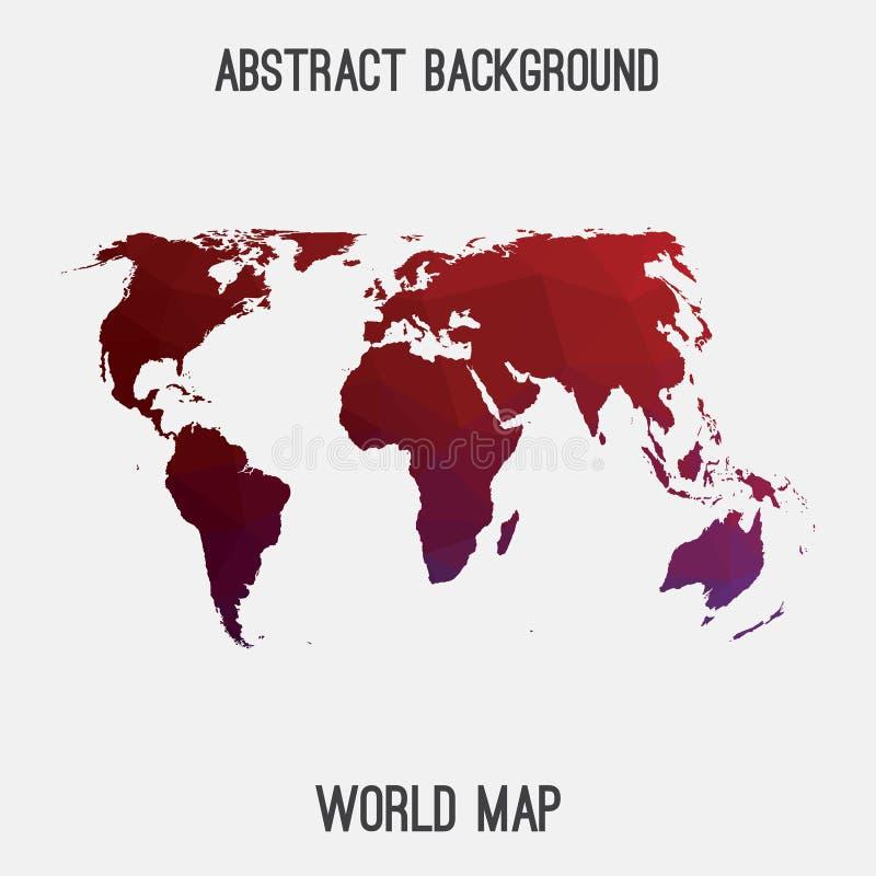 世界抽象地图 向量例证