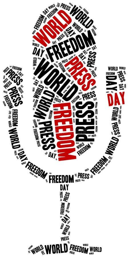世界新闻自由天 庆祝在第1  皇族释放例证