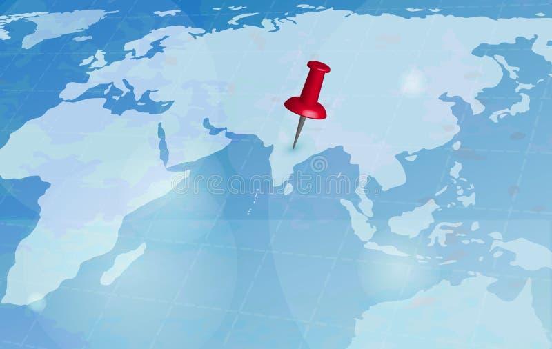 世界旅行地图 库存例证