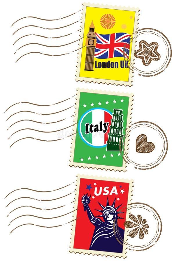 世界旅行邮票集合