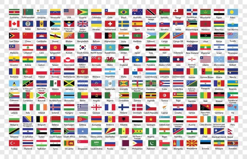 世界旗子汇集 库存例证