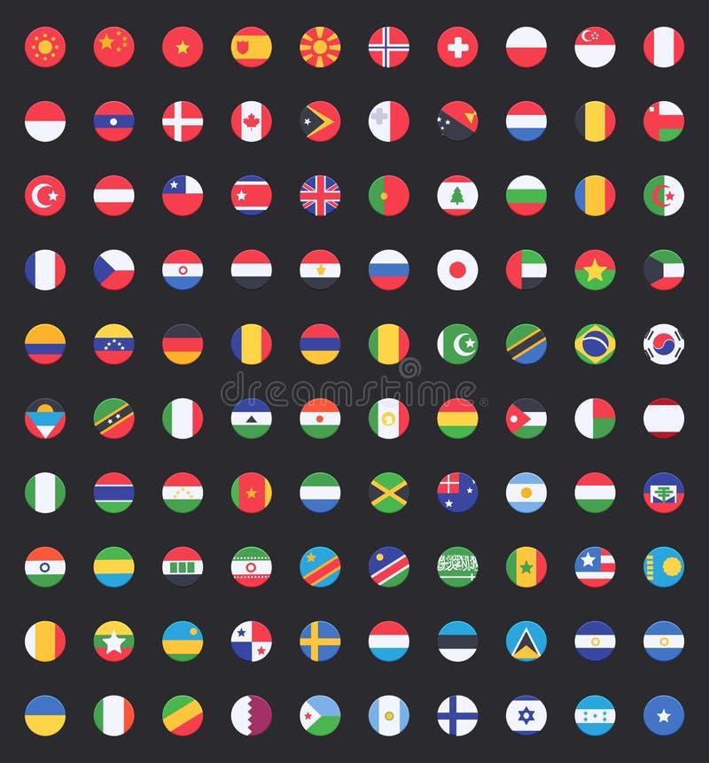 世界旗子  库存例证