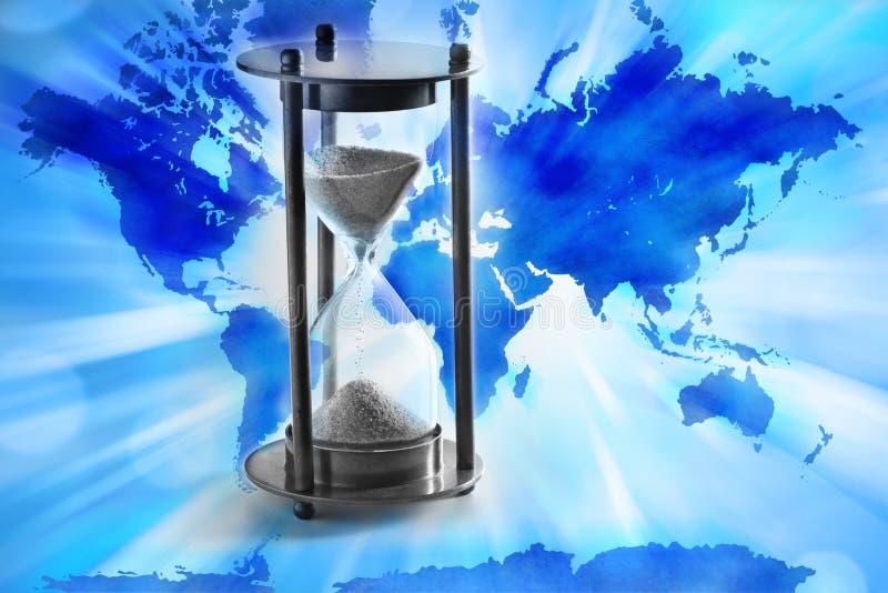 世界时钟时间 免版税库存图片
