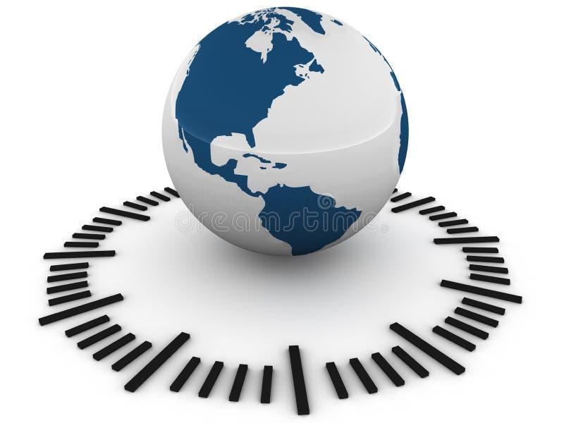 世界时间 库存例证