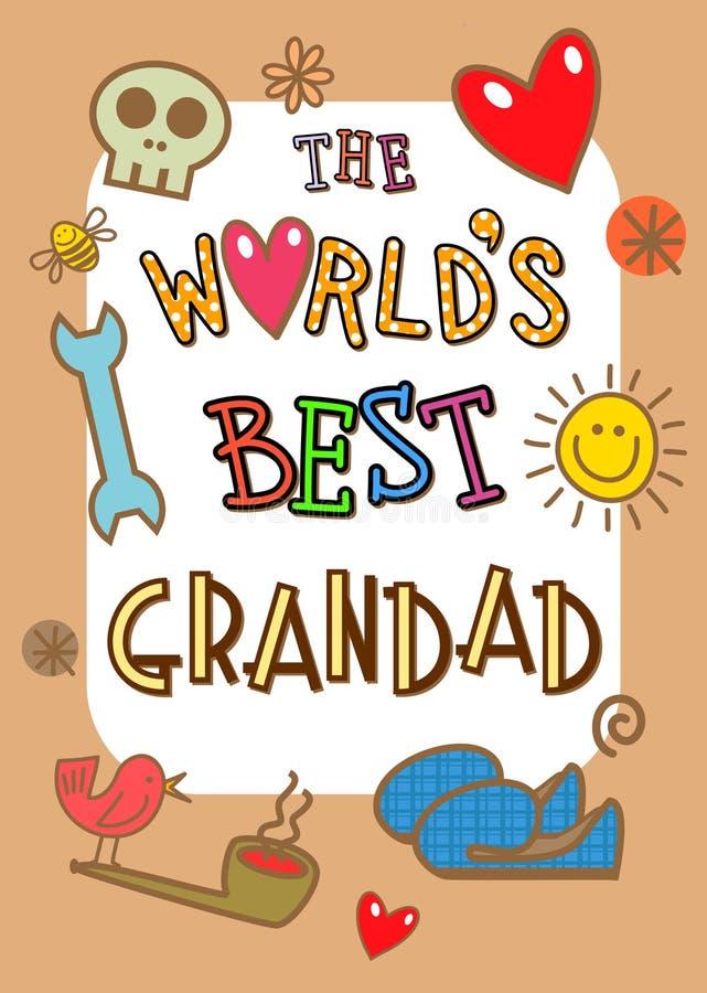 世界最佳的爷爷卡片 向量例证