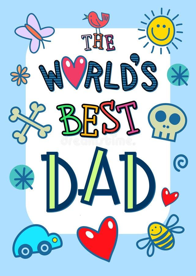 世界最佳的爸爸卡片 向量例证